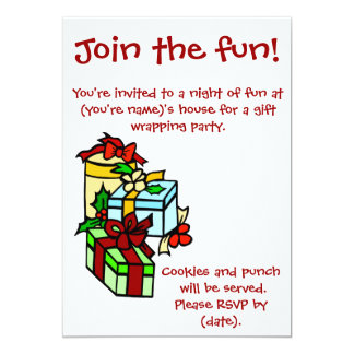"""Gift Wrapping Party Invitation 5"""" X 7"""" Invitation Card"""