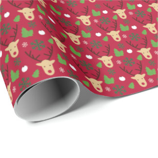 Gift wrapping to paper Merry Christmas