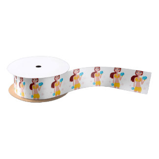 Gift wrapping with Fit girl Satin Ribbon