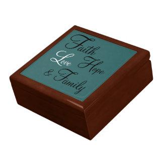 Giftbox - Prayer Box Faith Hope Love Family