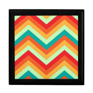 Giftbox Retro Zig Zag Chevron Pattern Jewelry Boxes