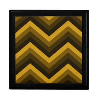 Giftbox Retro Zig Zag Chevron Pattern Keepsake Box