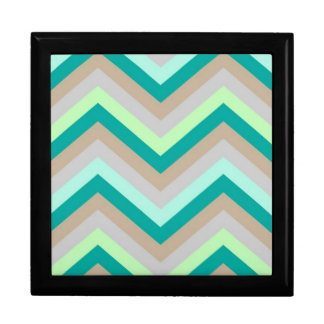 Giftbox Retro Zig Zag Chevron Pattern Keepsake Boxes