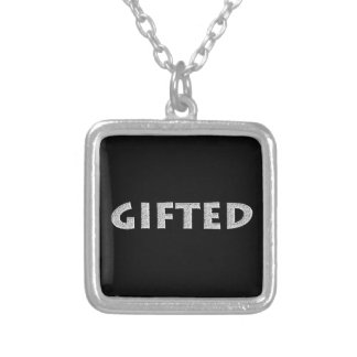 Gifted concept. silver plated necklace