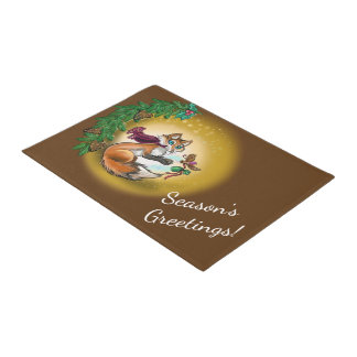 Gifting Fox Holiday Season's Greetings Doormat