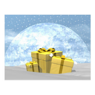 Gifts - 3D render Postcard