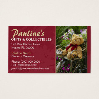 Gifts and Collectibles Shop Business Card