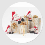Gifts and gnomes round sticker