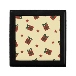Gifts and stars pattern gift box