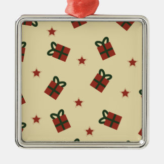 Gifts and stars pattern metal ornament