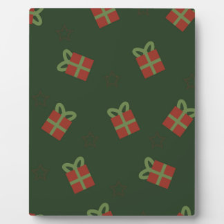 Gifts and stars pattern plaque