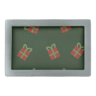Gifts and stars pattern rectangular belt buckle