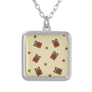 Gifts and stars pattern silver plated necklace