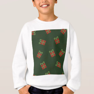 Gifts and stars pattern sweatshirt