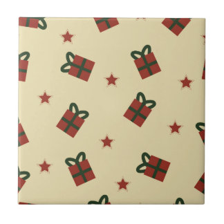 Gifts and stars pattern tile