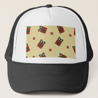 Gifts and stars pattern trucker hat