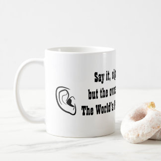 Gifts for Audiologists Ear | World's Best Doctor Coffee Mug