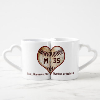 Gifts for Baseball Lovers Personalized Heart Mugs