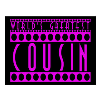 Gifts for Cousins : World's Greatest Cousin Print