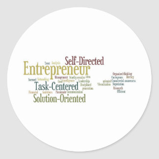 Gifts For Entrepreneurs Round Stickers