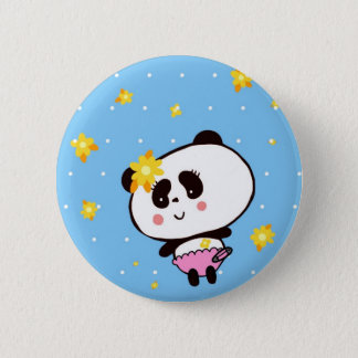 Gifts for Girls Cute Pandas Bears Personalized 2 Inch Round Button