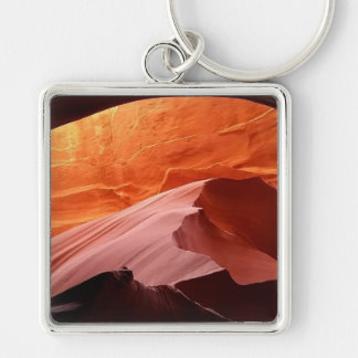 Gifts for Him Silver-Colored Square Keychain