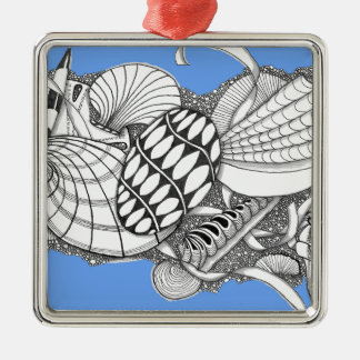 Gifts from the Sea Zentangle Style Ornament