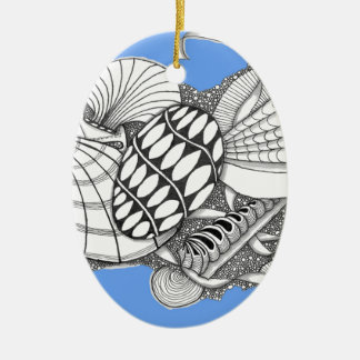 Gifts from the Sea Zentangle Style Christmas Ornaments