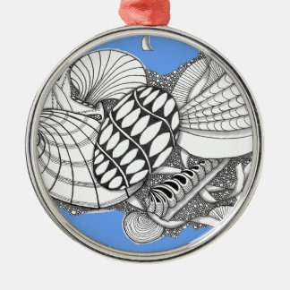 Gifts from the Sea Zentangle Style Christmas Ornament