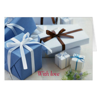 Gifts galore greeting card