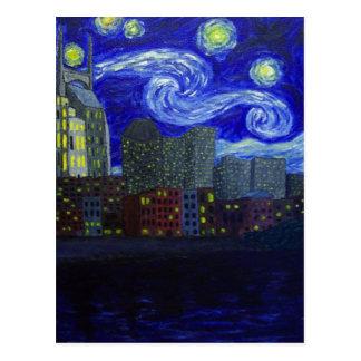 """Gifts: """"Nashville Starry Night"""" by Jack Lepper Postcard"""