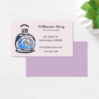 Giftware or online gift shop perfume bottle business card