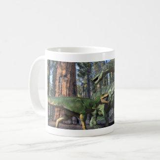 Giganatosaurus fight coffee mug