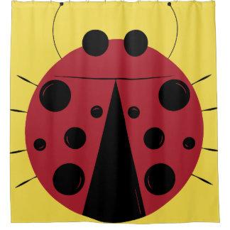 Gigantic Ladybug Design Shower Curtain