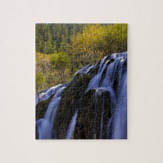 Gigantic Waterfall in a China Jiuzhaigou Jigsaw Puzzle