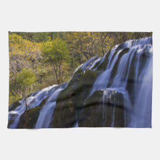 Gigantic Waterfall in a China Jiuzhaigou Towels