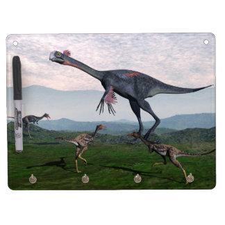 Gigantoraptor and small mononykus dinosaurs - 3D r Dry-Erase Boards