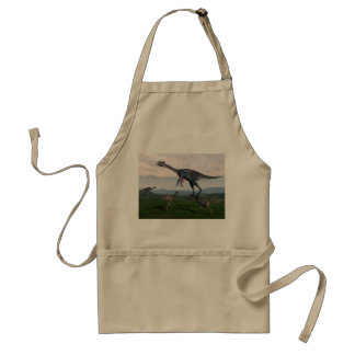 Gigantoraptor and small mononykus dinosaurs - 3D r Standard Apron