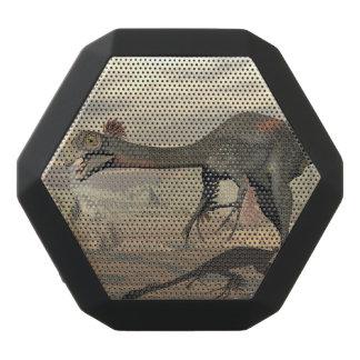 Gigantoraptor dinosaur in the desert - 3D render Black Bluetooth Speaker