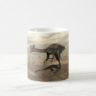 Gigantoraptor dinosaur in the desert - 3D render Coffee Mug