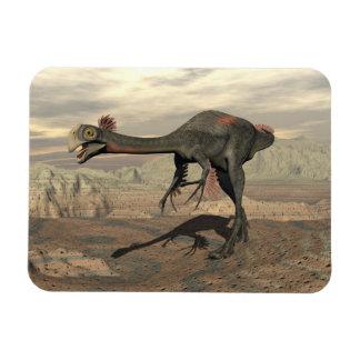 Gigantoraptor dinosaur in the desert - 3D render Magnet