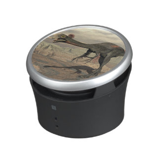 Gigantoraptor dinosaur in the desert - 3D render Speaker