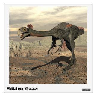 Gigantoraptor dinosaur in the desert - 3D render Wall Sticker