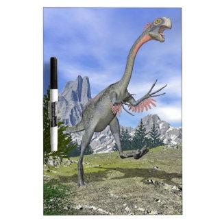Gigantoraptor dinosaur running - 3D render Dry Erase White Board