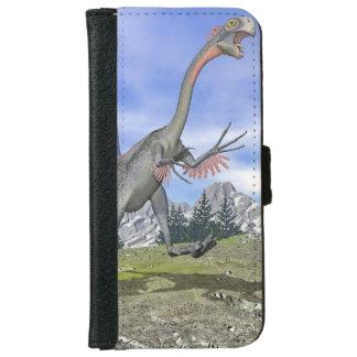 Gigantoraptor dinosaur running - 3D render iPhone 6 Wallet Case