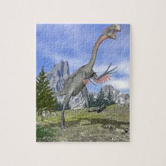 Gigantoraptor dinosaur running - 3D render Jigsaw Puzzle