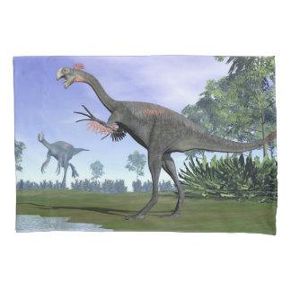 Gigantoraptor dinosaurs in nature - 3D render Pillowcase