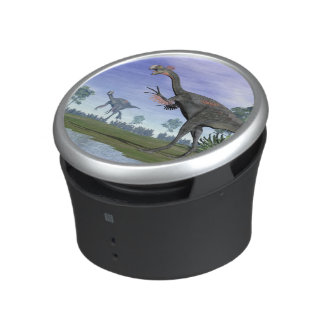 Gigantoraptor dinosaurs in nature - 3D render Speaker