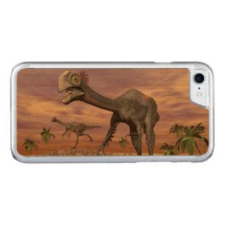 Gigantoraptor dinosaurs in the desert - 3D render Carved iPhone 8/7 Case