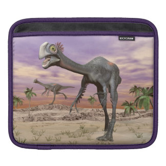 Gigantoraptor dinosaurs in the desert - 3D render iPad Sleeves